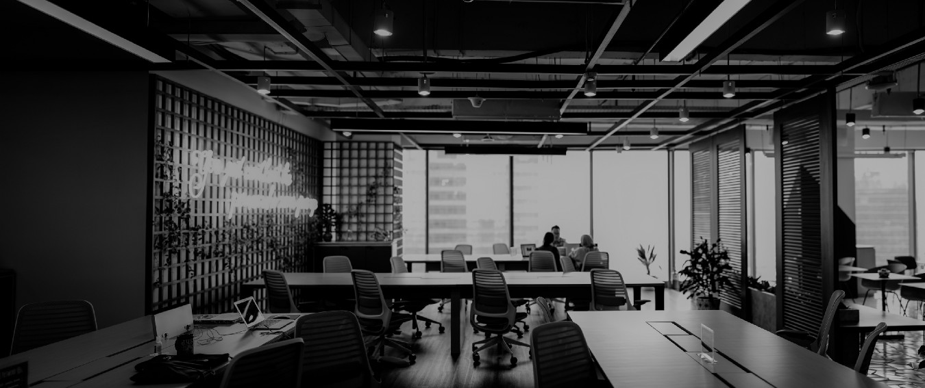 Office space in black and white